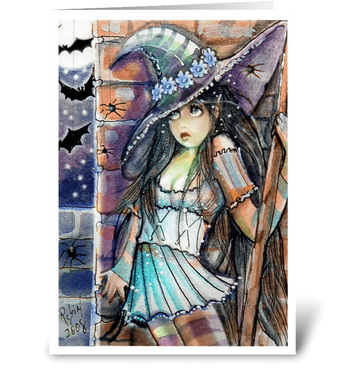 Spooked Little Witch, Greetings greeting card
