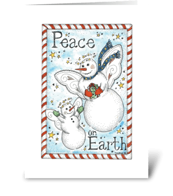 Snow Angels Peace on Earth greeting card