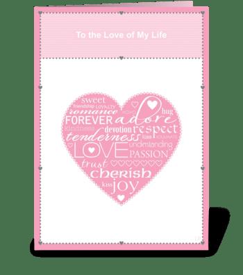 Love Words greeting card