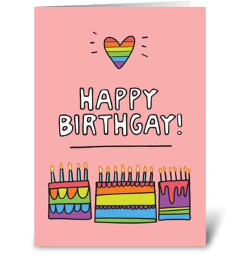 Happy Birthgay greeting card
