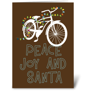 Christmas Cruiser greeting card