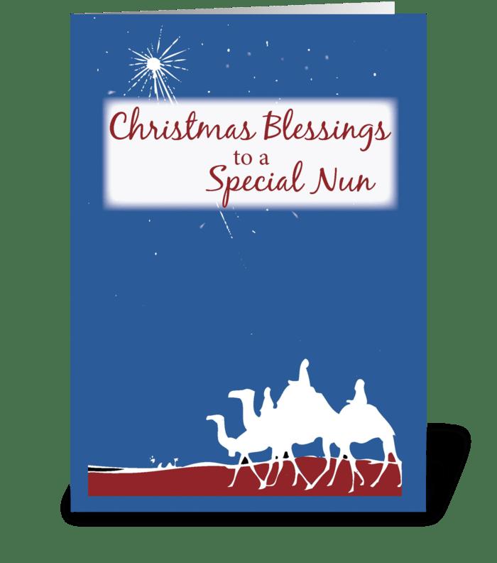 Christmas blessings nun send this greeting card designed by sandra christmas blessings nun greeting card m4hsunfo