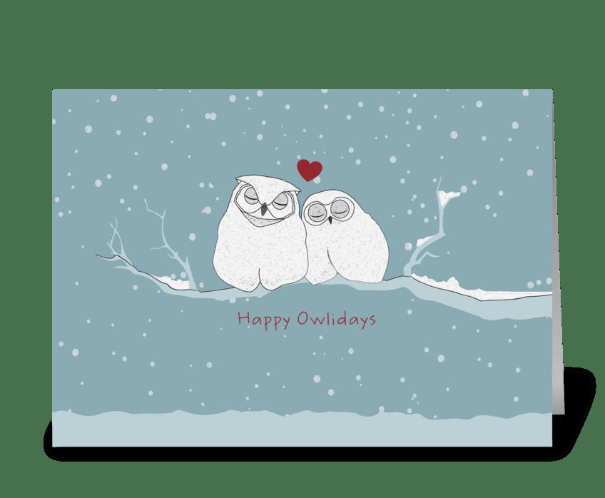 Happy owlidays send this greeting card designed by caramel happy owlidays greeting card m4hsunfo