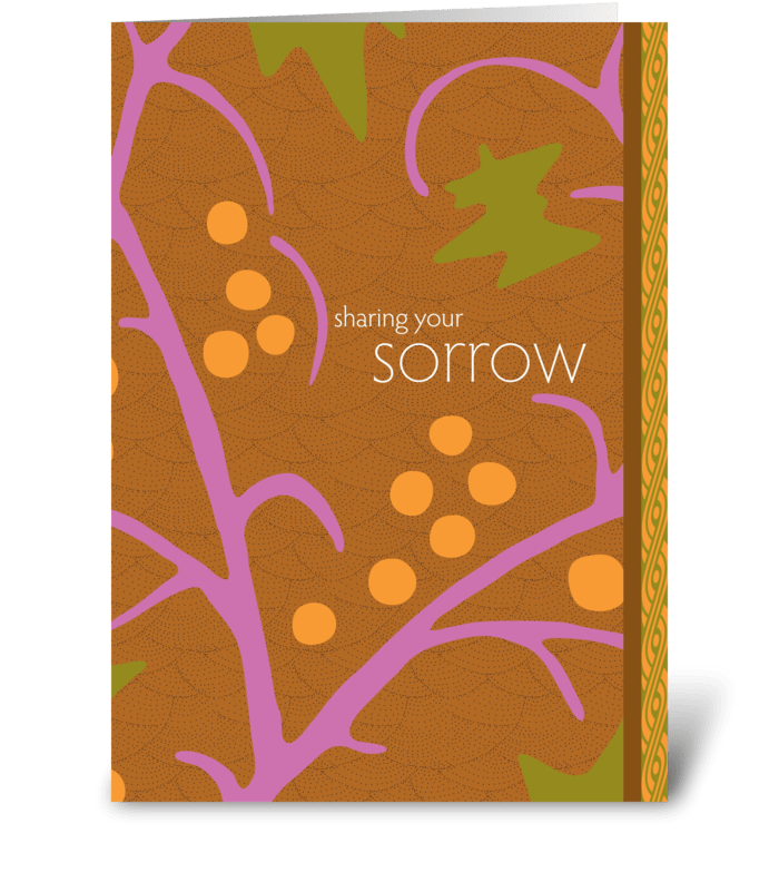 sharing your sorrow greeting card