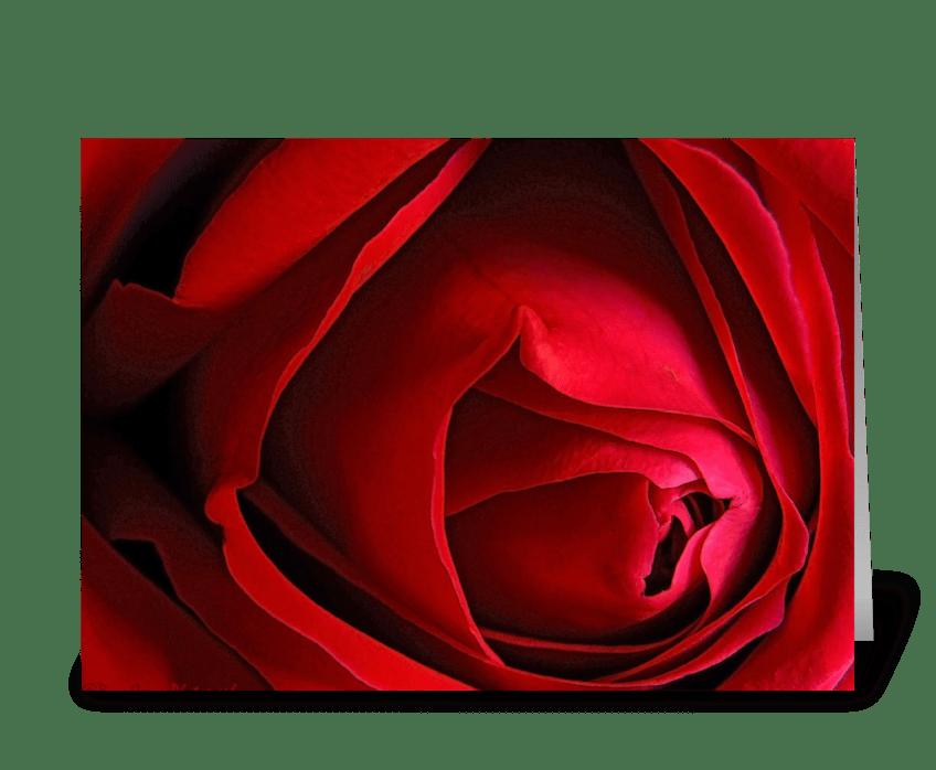 "Red Rose ""Happy Birthday!"" greeting card"