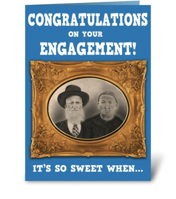 Engagement Congratulations ;-) greeting card
