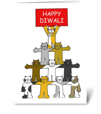 Happy Diwali Kittens greeting card
