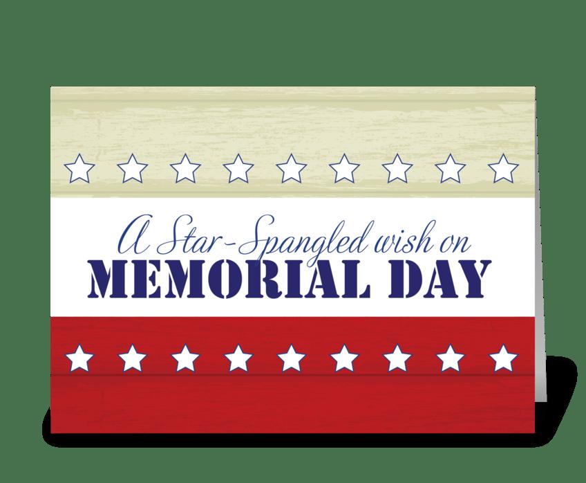 Memorial Day, Star Spangled Wish greeting card