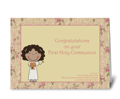 Congratulations, Holy Communion, Dark-sk greeting card
