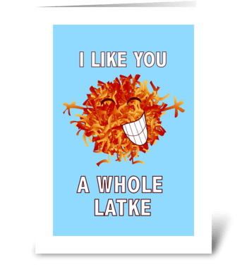 A Whole Latke greeting card