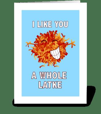 A Whole Latke greeting card