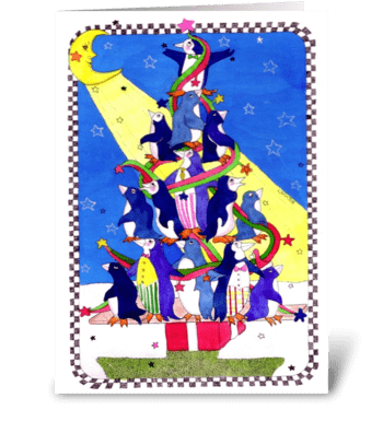 Christmas Tree Fun greeting card