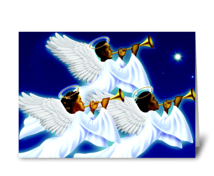 Angels greeting card