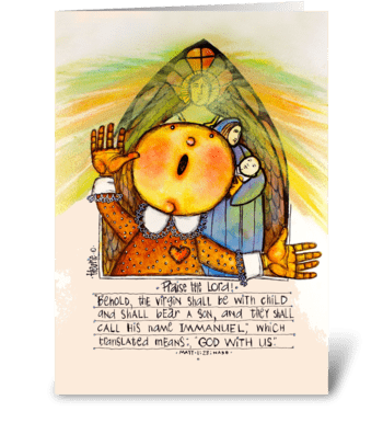 Immanuel greeting card