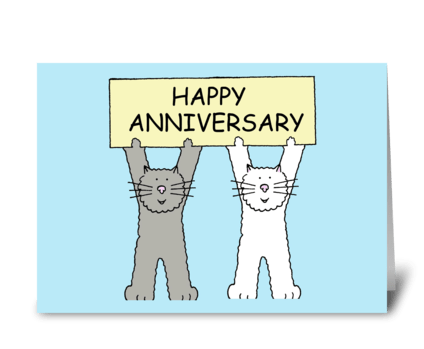 Happy Anniversary Cats greeting card
