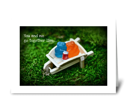 You and me... greeting card