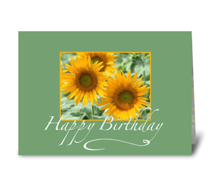 Happy Birthday Sunflower greeting card