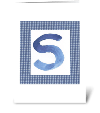 S - Baby Boy greeting card