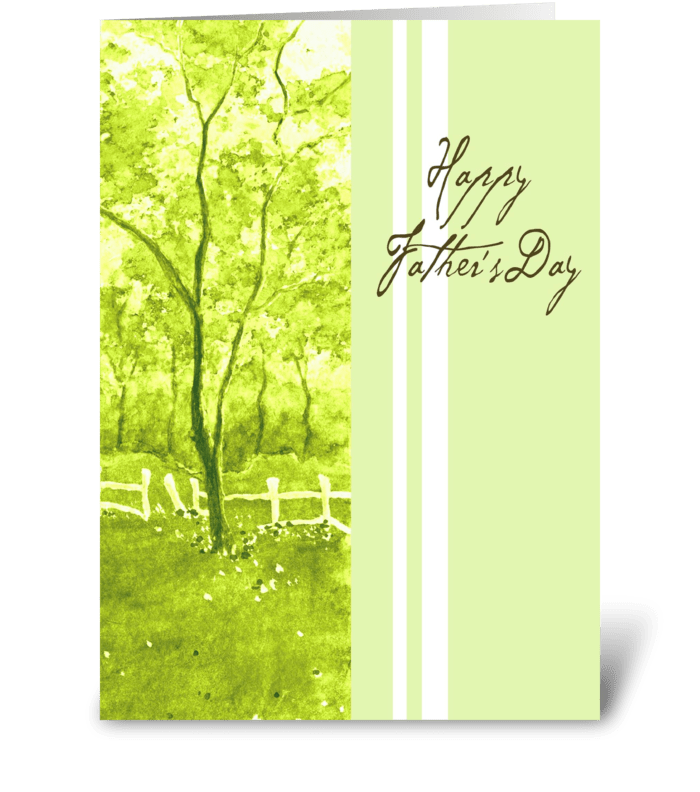 Peaceful Green greeting card