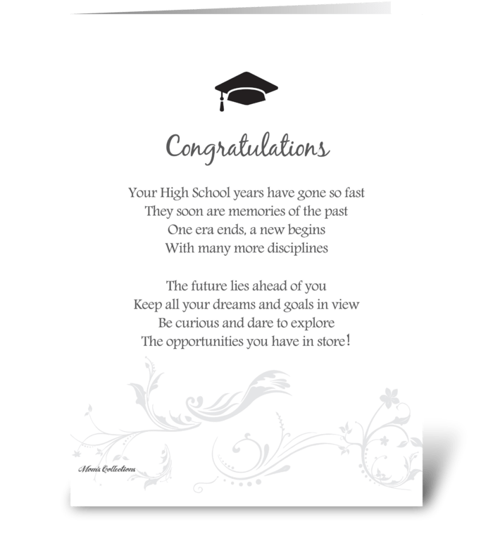 Poetry graduation send this greeting card designed by moms poetry graduation greeting card m4hsunfo