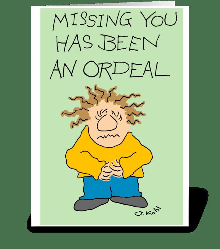 Ordeal greeting card