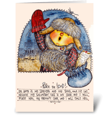 Winter shopping greeting card