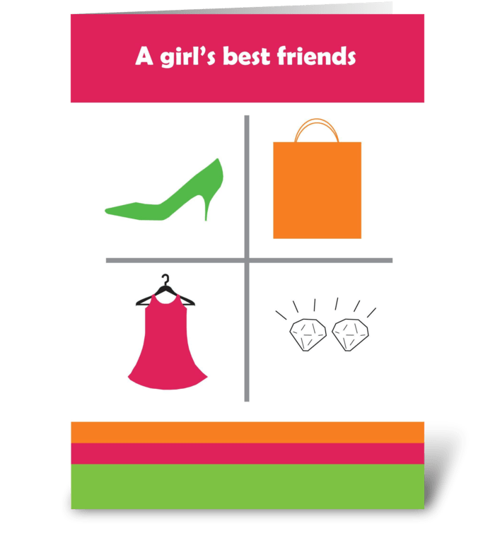 Girl's Best Friends greeting card