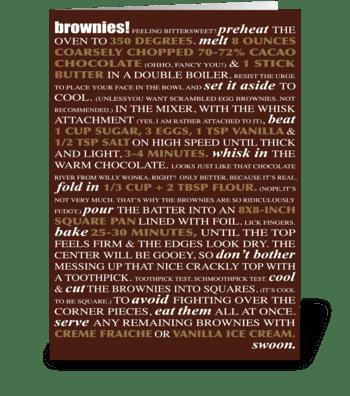 Bakeable Greetings: Brownies greeting card