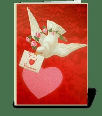 ...to my Valentine greeting card