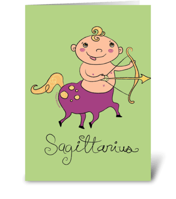 Little Sagittarius greeting card
