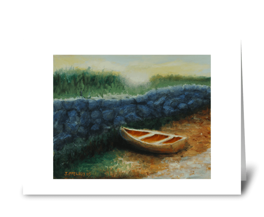 You Row My Boat greeting card