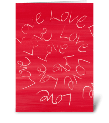 Love, Love, Love Full greeting card