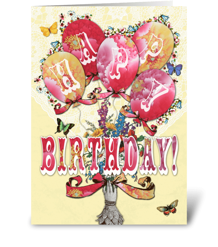 Candy Card Balloons Happy Birthday Send This Greeting Card