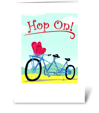 Bicycle Built For Two greeting card