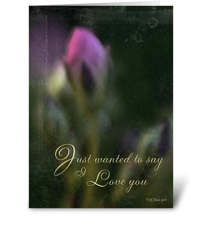 Pink Bud Romantic Card greeting card