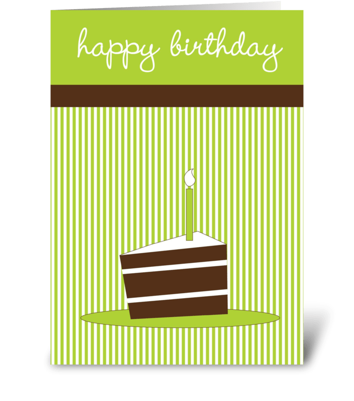 Cake slice greeting card