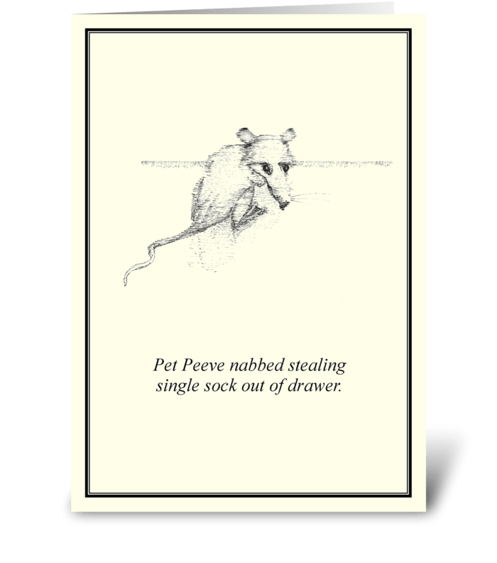 Pet Peeve greeting card