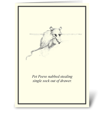Pet Peeve greeting card