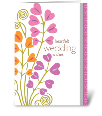 heartfelt wedding wishes greeting card
