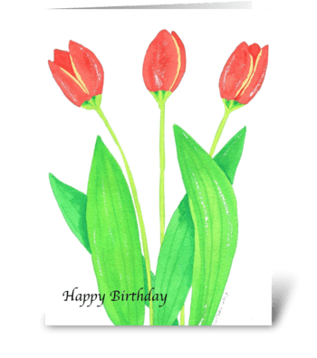 Birthday Tulips greeting card