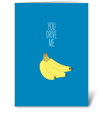 Bananas greeting card