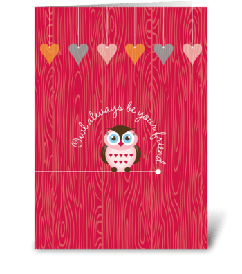 Owl Friends greeting card