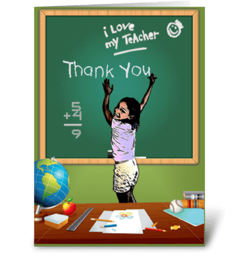 TEACHER THANK YOU CARD greeting card