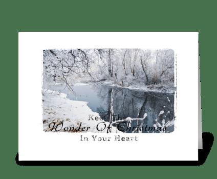 Wonder of Christmas greeting card