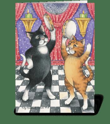 Chubby Cats Birthday #27 greeting card