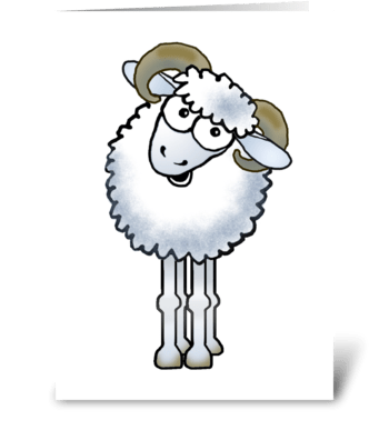 Aries Ram Cartoon greeting card