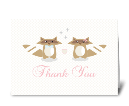 Wedding Thank You Card greeting card