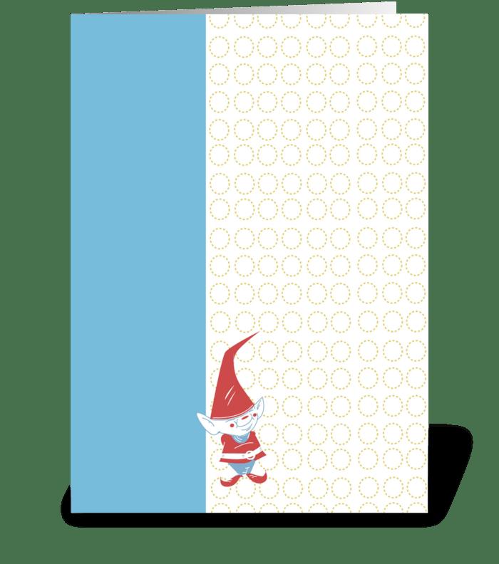 Gnome Junior greeting card