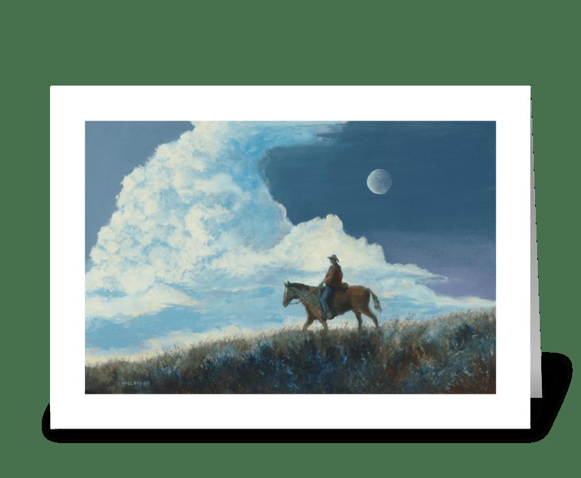 Sky Rider greeting card
