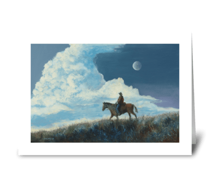 Sky Rider greeting card